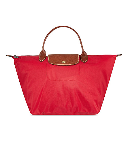 LONGCHAMP Le Pliage medium handbag (Red+gar