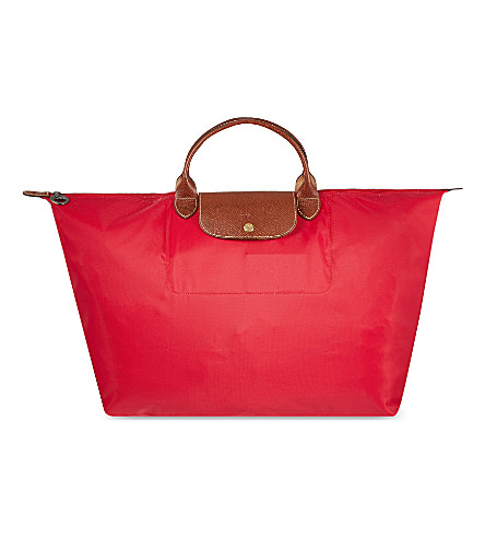 LONGCHAMP Le Pliage travel bag L (Red+gar