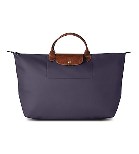 LONGCHAMP Le Pliage medium travel bag in myrtille (Bilberry
