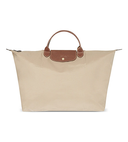 LONGCHAMP Le Pliage medium travel bag (Beige