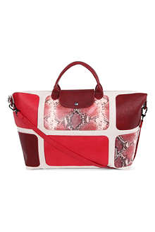 LONGCHAMP Le Pliage patch exotic travel bag