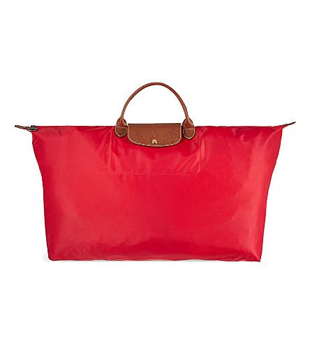 LONGCHAMP 乐 Pliage 旅行袋 XL (红 + 雀