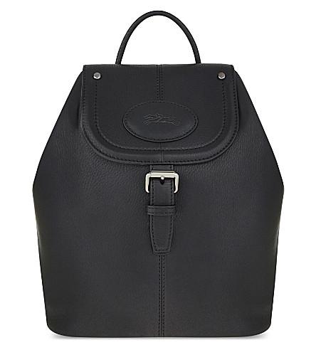 LONGCHAMP Mystery leather backpack (Black