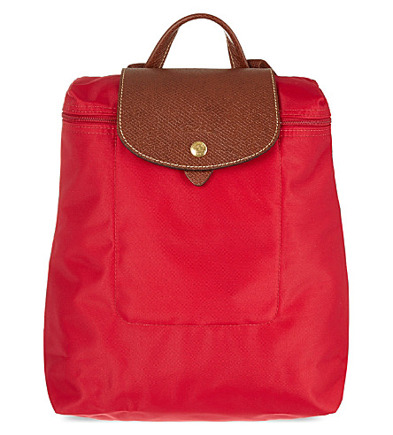 LONGCHAMP Le Pliage backpack (Red+gar