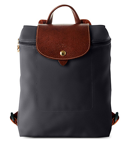 LONGCHAMP Le Pliage backpack Gun metal Under Sale Online From UK For Sale Comfortable Cheapest Price wk7l3B