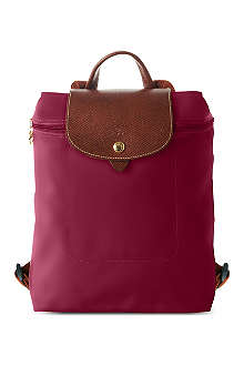 LONGCHAMP Le pliage backpack in fuchsia