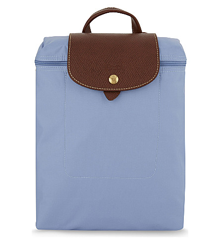 LONGCHAMP Le Pliage nylon backpack (Blue+mist