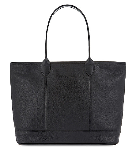 LONGCHAMP Le Foulonné leather shoulder bag (Black