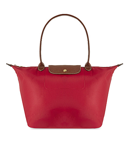LONGCHAMP Le Pliage large shoulder bag (Red+gar
