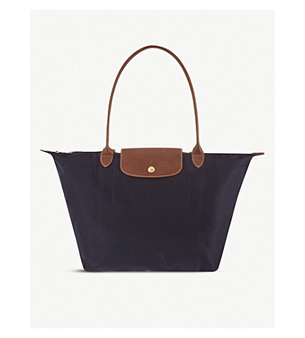 LONGCHAMP Le Pliage large shopper in myrtille (Bilberry