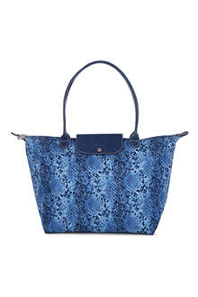 LONGCHAMP Le Pliage python large shopper