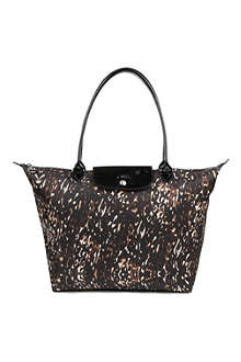 LONGCHAMP Le Pliage Fauve large shopper