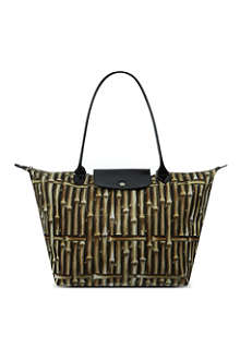 LONGCHAMP Le Pliage Bambou large shopper