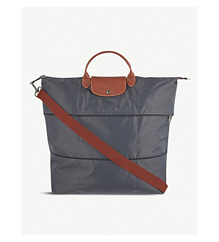 LONGCHAMP Le Pliage travel bag (Gun+metal