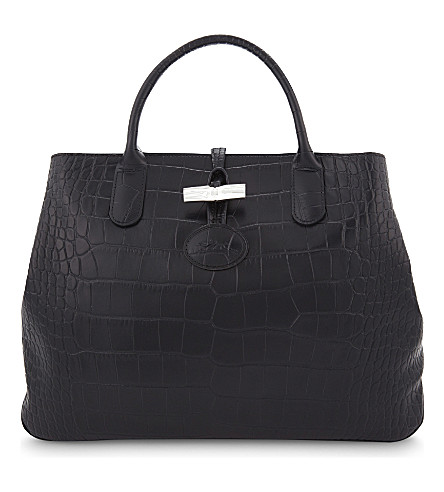 LONGCHAMP Roseau medium leather tote (Black