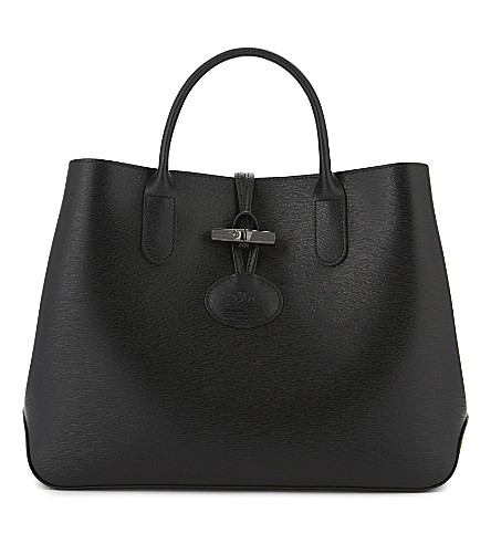 LONGCHAMP Roseau leather tote (Black