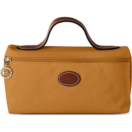 LONGCHAMP Le Pliage make-up bag in camel (Camel