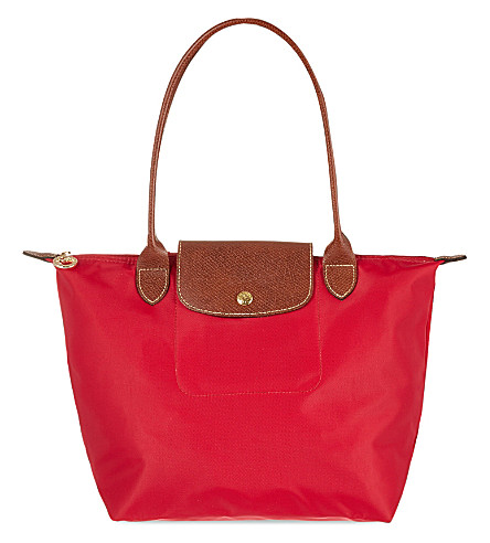 LONGCHAMP Le Pliage shoulder bag S (Red+gar