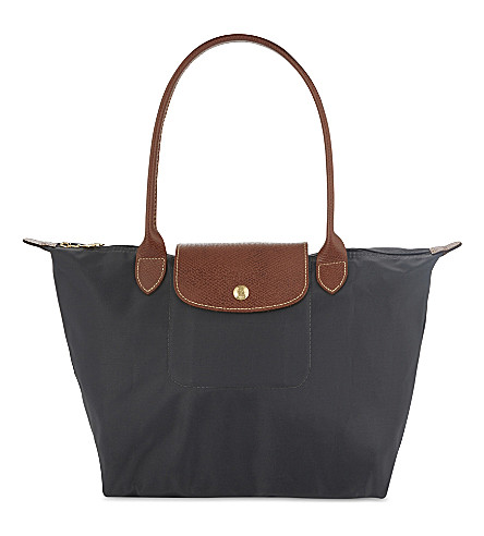 LONGCHAMP Le Pliage small tote bag (Gun+metal