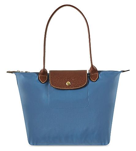 LONGCHAMP Le Pliage small shoulder bag (Ice blue