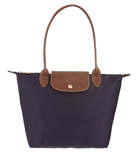 LONGCHAMP Le Pliage small shopper in myrtille (Bilberry