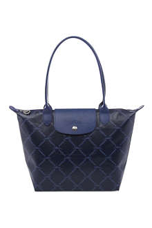 LONGCHAMP LM Metal small shopper in navy