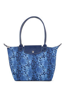 LONGCHAMP Le Pliage Python small shopper