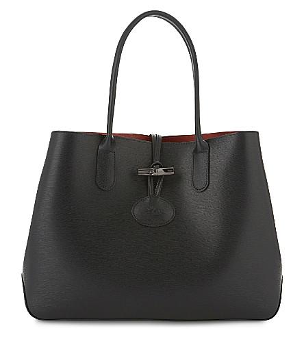 LONGCHAMP Roseau leather tote (Black