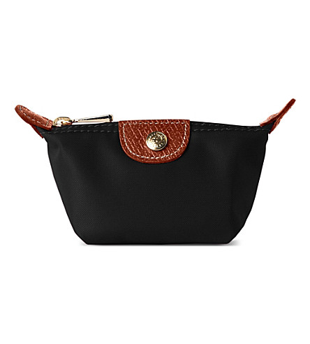 LONGCHAMP Le Pliage small coin purse in black (Black