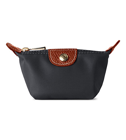 LONGCHAMP Le Pliage coin purse (Gun+metal