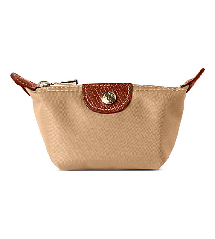 LONGCHAMP Le Pliage coin purse (Beige