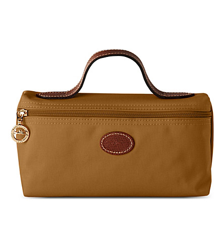 LONGCHAMP Le Pliage make-up bag (Camel