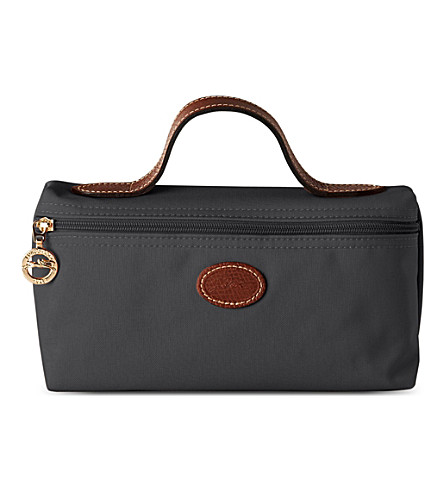 LONGCHAMP Le Pliage make-up bag (Gun+metal
