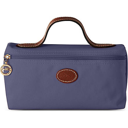 LONGCHAMP Le Pliage small make-up bag in navy (Navy