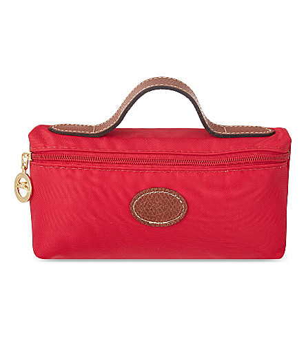 LONGCHAMP Le Pliage cosmetic case (Red+gar