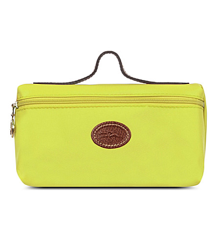 LONGCHAMP Le Pliage make-up bag (Citron