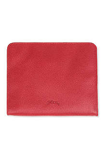 LONGCHAMP Veau Foulonne iPad case