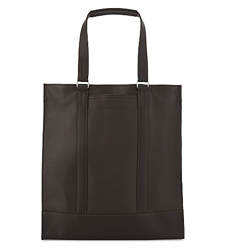 LONGCHAMP Le Foulonne leather tote (Noir