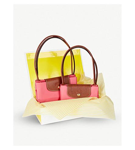 LONGCHAMP Le Pliage Large Travel bag and Small Shopper gift set (Flowers