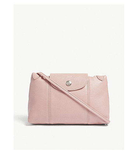 LONGCHAMP Le Pliage Cuir leather cross-body bag (Blush