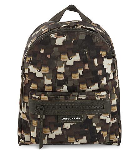 LONGCHAMP Le Pliage Néo Vibration nylon backpack (Khaki