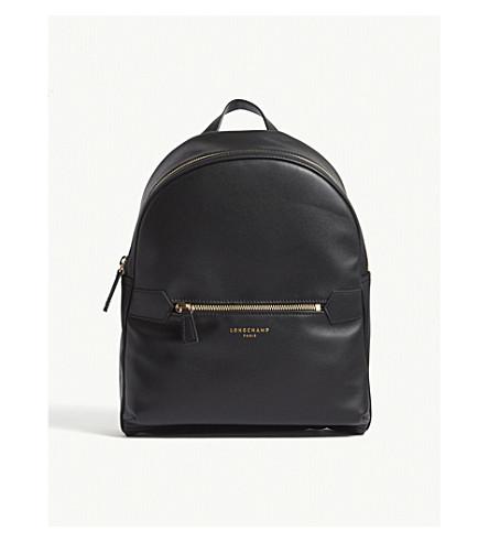 LONGCHAMP 2.0 medium leather backpack (Black