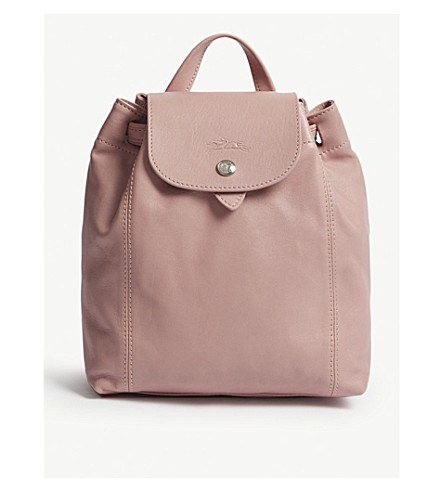 LONGCHAMP Le Pliage Cuir extra-small leather backpack (Blush