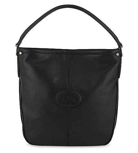 LONGCHAMP Mystery leather shoulder bag (Black