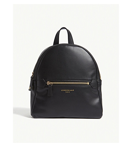 LONGCHAMP 2.0 extra-small leather backpack (Black