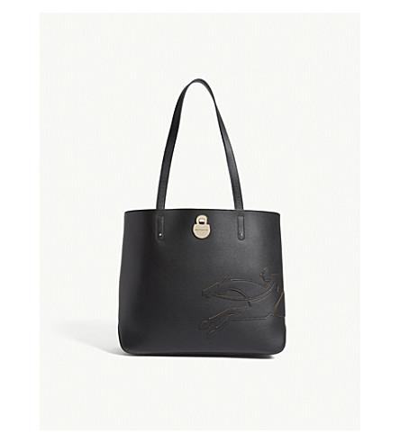LONGCHAMP Shop-It leather shoulder bag (Black