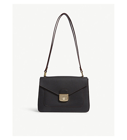 LONGCHAMP Le Pliage Heritage Hobo leather shoulder bag (Noir
