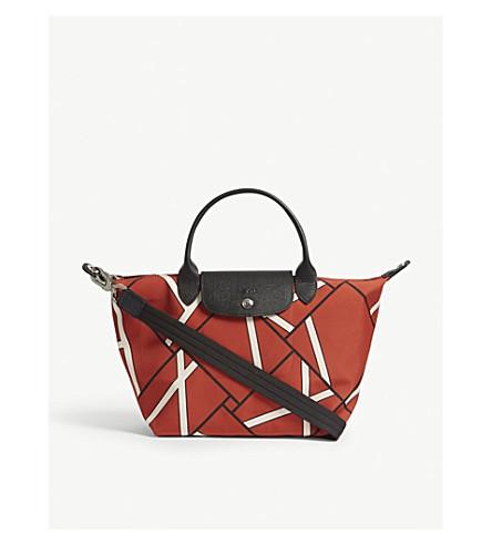 LONGCHAMP Pliage Néo geometric-print shoulder bag (Sienna