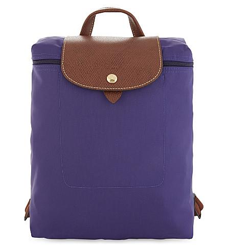 LONGCHAMP Le Pliage nylon canvas backpack (Amethyst