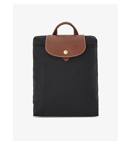LONGCHAMP Le Pliage nylon canvas backpack (Black